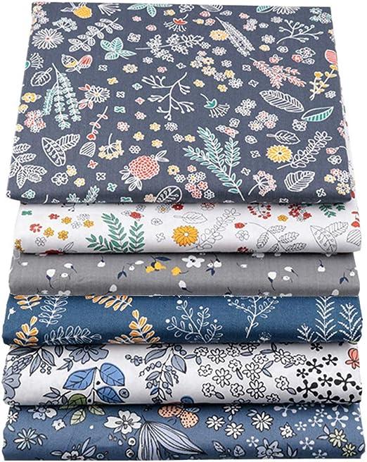 BYY - Lote de 6 piezas de tela de algodón para manualidades, 40 x ...
