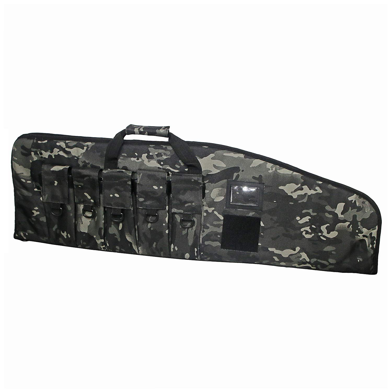 ARMYCAMOUSA Rifle Bag Outdoor Tactical Carbine Cases Water dust Resistant Long Gun Case Bag with Five Magazine Pouches for Hunting Shooting Range Sports Storage and Transport (Black Multicam, 38'') by ARMYCAMOUSA