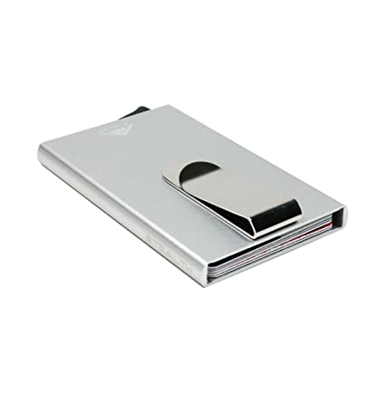 Stealth Wallet | El Bloqueo de la Tarjeta RFID crédito de la Carpeta Titular del eyector y Clip del Dinero | Carpeta de Aluminio Minimalista con la ...
