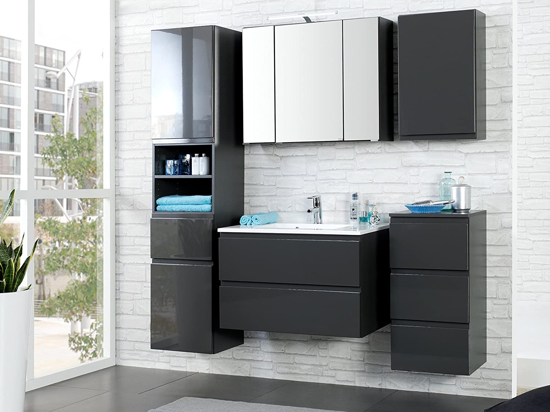 Badezimmer (7-teilig) Möbel komplett Set Badezimmerset Badmöbel