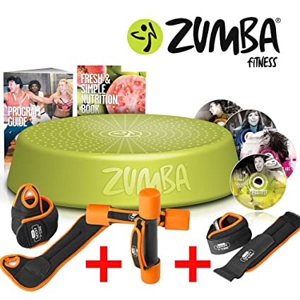 Zumba Fitness Incredible Results DVD Set + Step Rizer – + Fitness – Juego de pesas