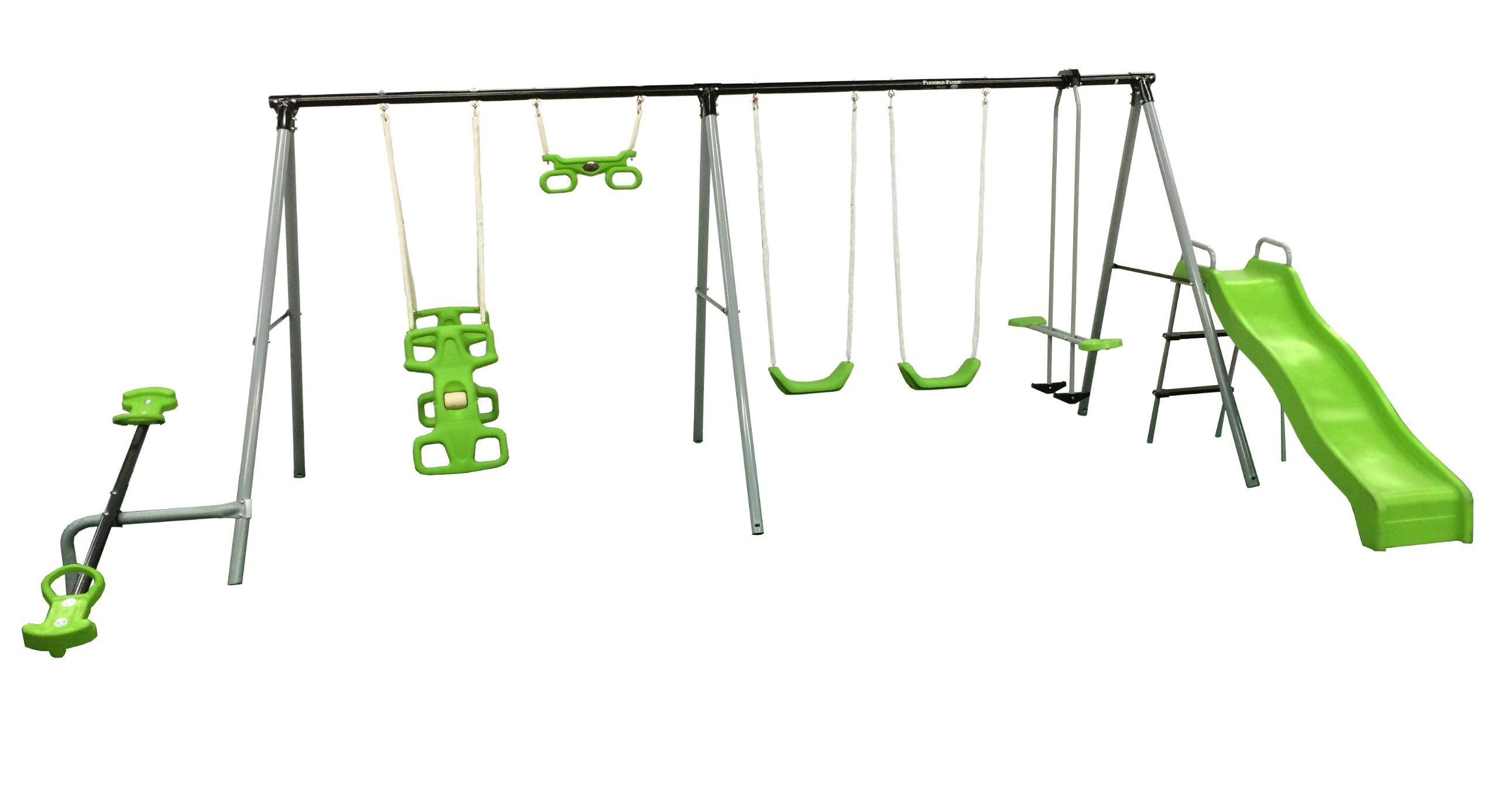 Flexible Flyer ''World Of Fun'' Swing Set by Flexible Flyer