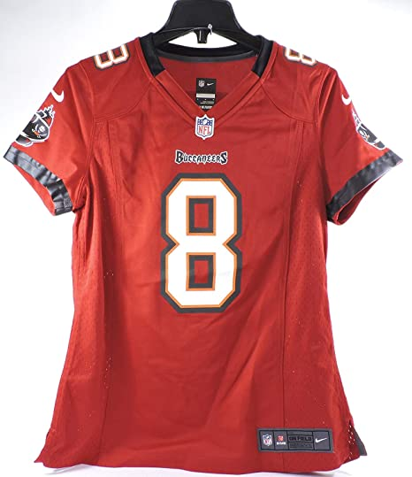 Mike Glennon Womens Jersey - Tampa Bay Buccaneers  8 Home Red Nike NFL  (Medium 568084f88e