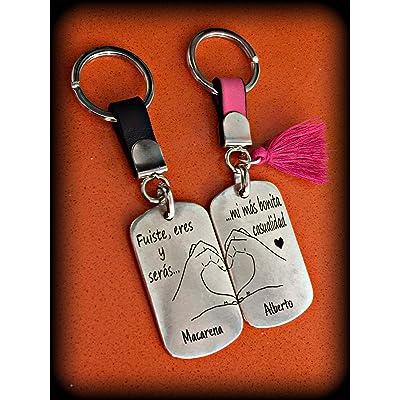 Llaveros dobles para parejas. Regalo dia de los enamorados - San Valentín