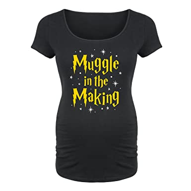 dd2075a0952b3 Muggle in The Making -Maternity Scoop Neck TEE-S Black