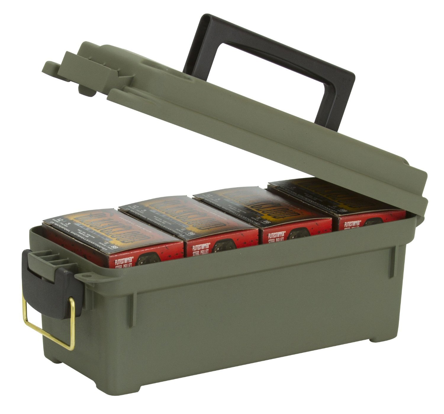 Amazon.com  Plano Shot Shell Box OD Green  Gun Ammunition And Magazine Pouches  Sports u0026 Outdoors  sc 1 st  Amazon.com & Amazon.com : Plano Shot Shell Box OD Green : Gun Ammunition And ...