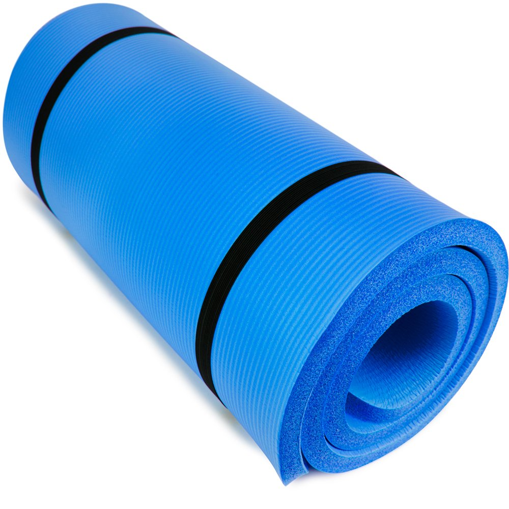 "Yoga Cloud Ultra-Thick 1 ""Yoga and Exercise Mat with Shoulder Sling"