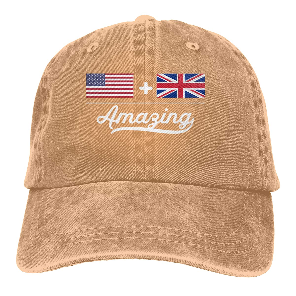 American British = Amazing Flag Unisex Adult Cowboy Hat Sun Hat Adjustable Truck Driver Hat
