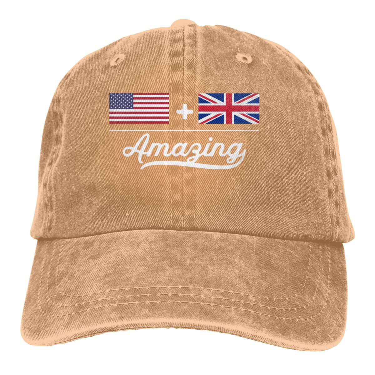 British = Amazing Flag Unisex Adult Cowboy Hat Sun Hat Adjustable Truck Driver Hat American