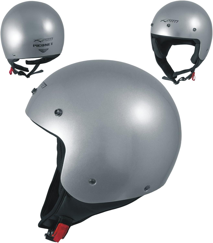 Motorradhelm Quad Roller Offenes Jet Helm Custom Ece 22 05 Polierten Silber Xl Auto