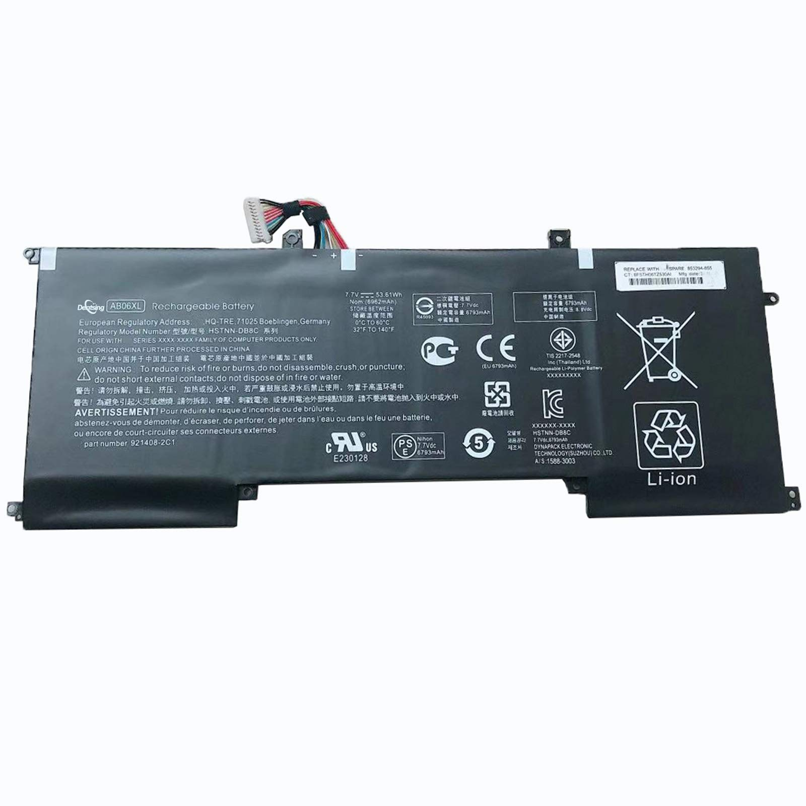 Bateria AB06XL 7.7V 53.61Wh/6962mAh HP Envy 13 2017 13-AD019