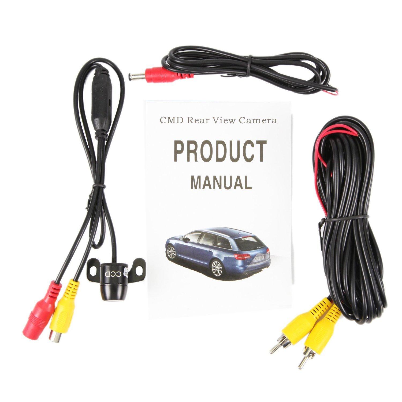 Mini Auto Cam/éra de Recul Raincoat Fonction Mirroir C/âble 6m Gratuit