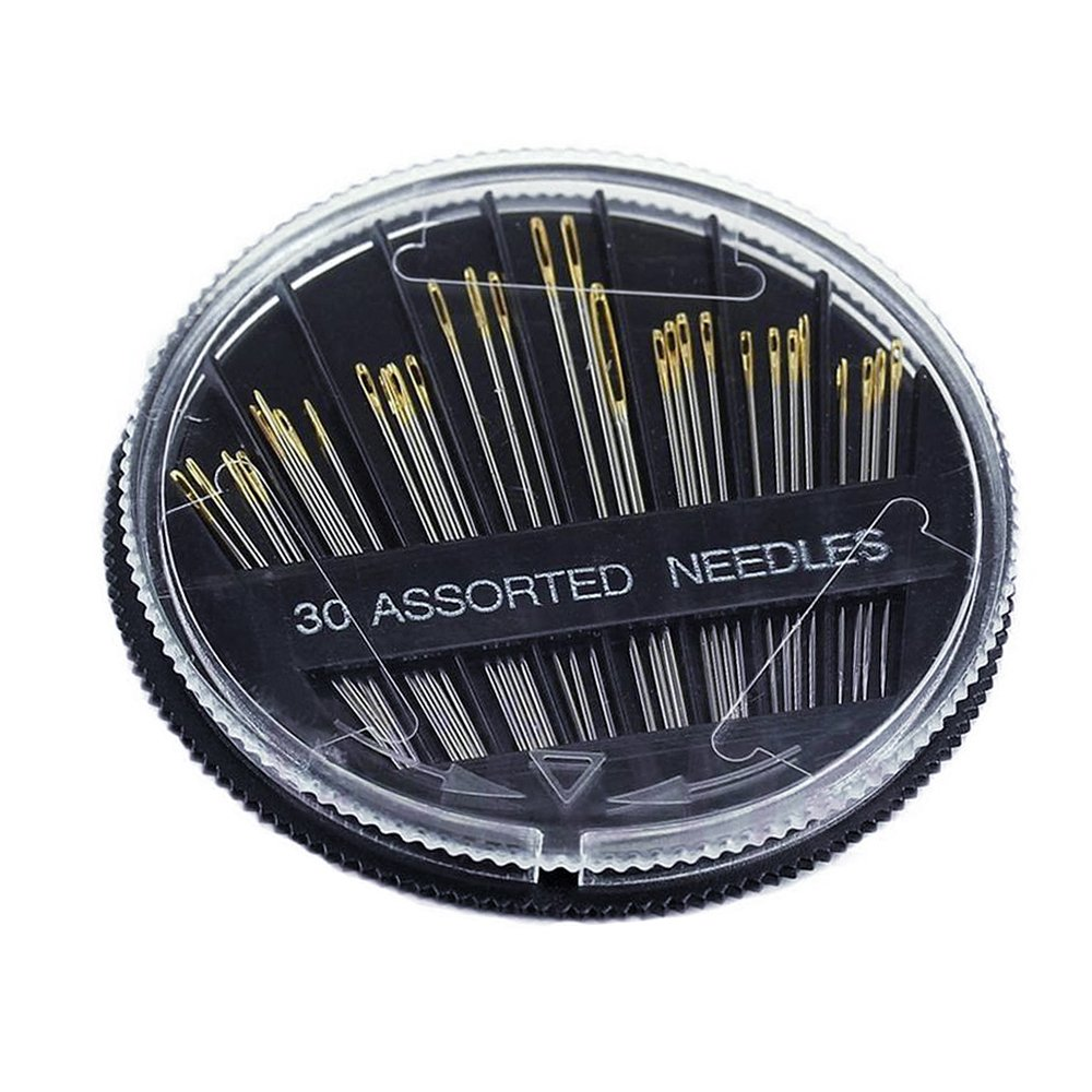 Refaxi 30 PCS Craft Quilt Sew Case Assorted Hand Sewing Needles Embroidery Mending Tool