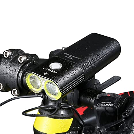 Gaciron profesional 1600 lúmenes bicicleta luz banco de la energía ...