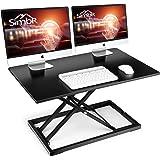 Standing Desk Converter, SIMBR 32 inch Height Adjustable Computer Desk, Gas Spring Stand Up Desk Converter Fits Dual…