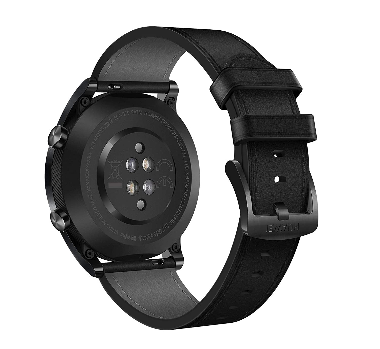 Huawei Watch GT 2019 ELA-B19 (42mm) BT Version, Water Proof, Fluoroelastomer Black Band Elegant