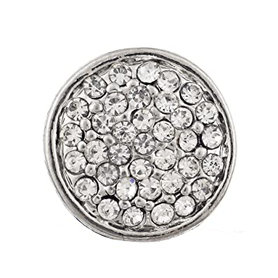 Vocheng Snap Charms Small 12mm 4 Colors Crystal Interchangeable Button Jewelry Vn-435 Pack of 2pcs