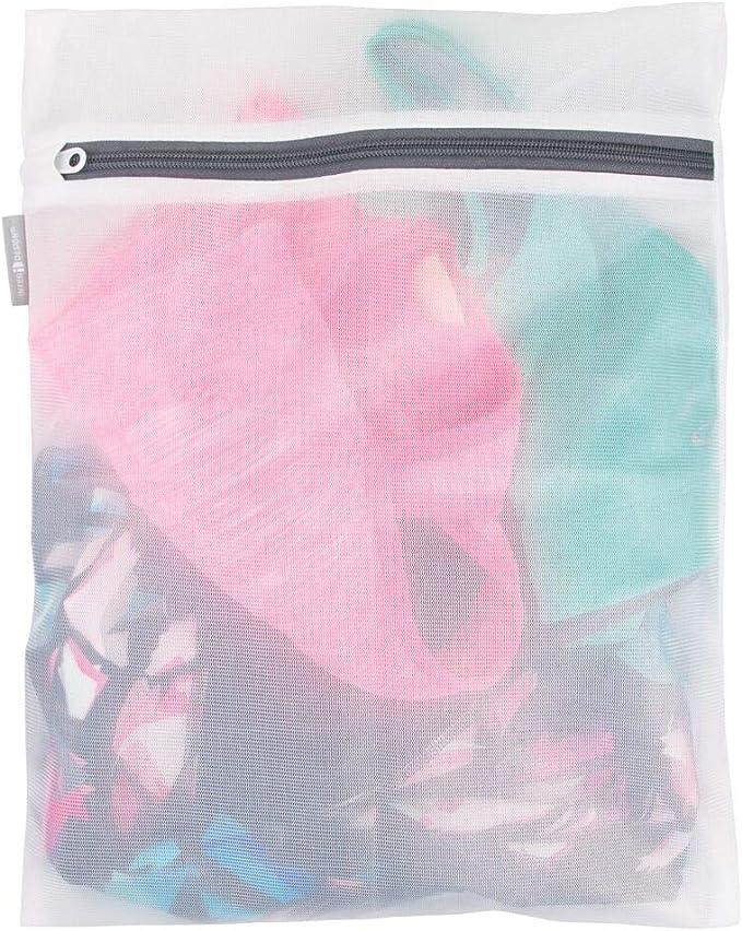 Amazon.com: mDesign - Bolsa de lavado de malla para ropa ...