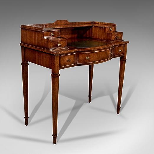 London Fine Antiques Escritorio, Envejecido Sheraton Sabor, Caoba ...