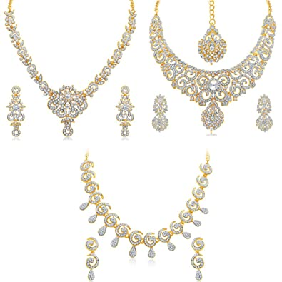 Sukkhi Gold Plated Necklace Set Combo For Women  sc 1 st  Amazon.in & Buy Sukkhi Gold Plated Necklace Set Combo For Women Online at Low ...