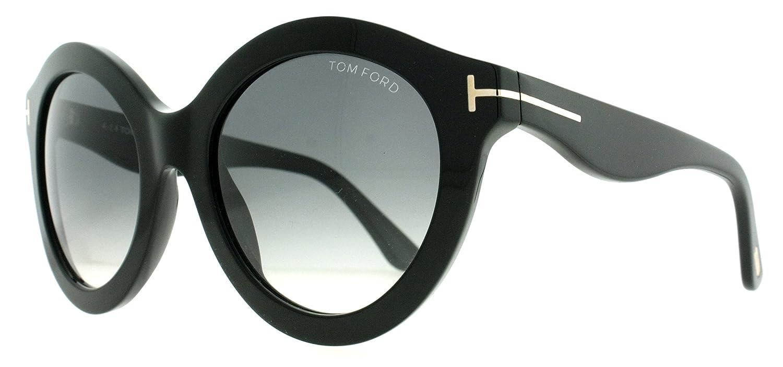 81bb0c4ddb4b Amazon.com  TOM FORD Sunglasses FT0359 01B Shiny Black 55MM  Sports    Outdoors