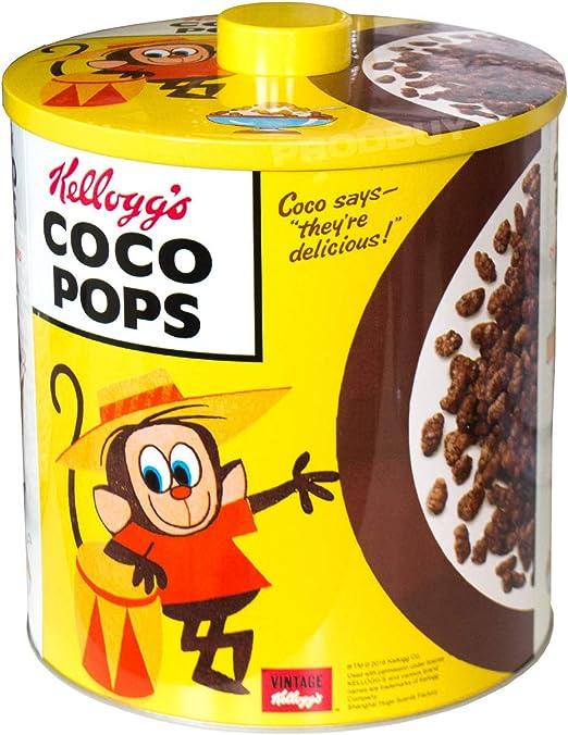 Kelloggs – Caja metálica para galletas lata de almacenamiento de ...