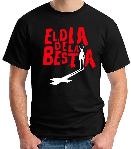 35mm - Camiseta Hombre - El Dia De La Bestia - T-Shirt: Amazon.es: Ropa y accesorios
