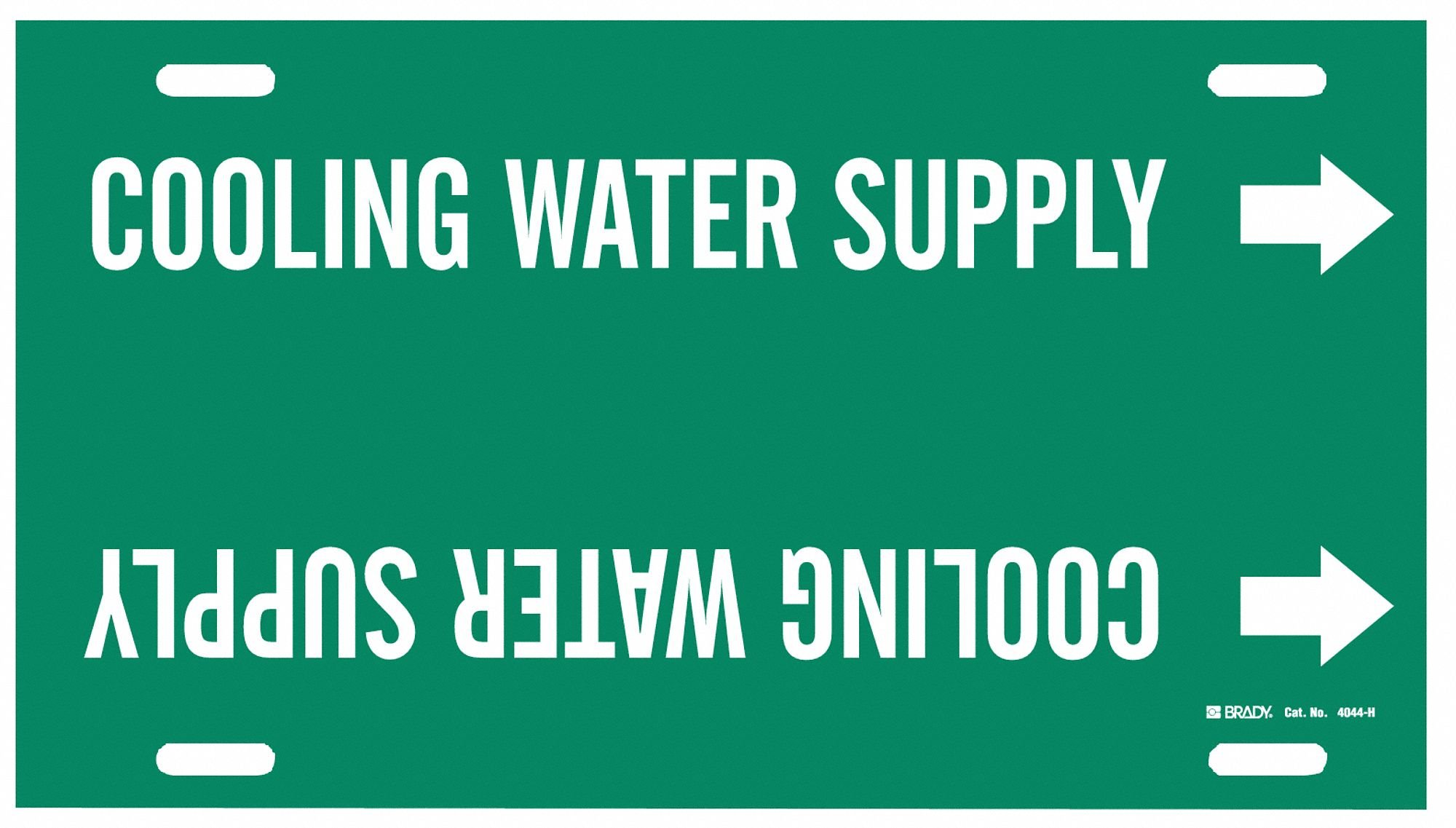 Pipe Mrkr,Cooling Water Supply,10to15 In