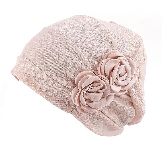 a1495d81886 HONENNA Chemo Turban Headband Scarf Beanie Cap Hat for Cancer Patient  (Cream-Coloured)