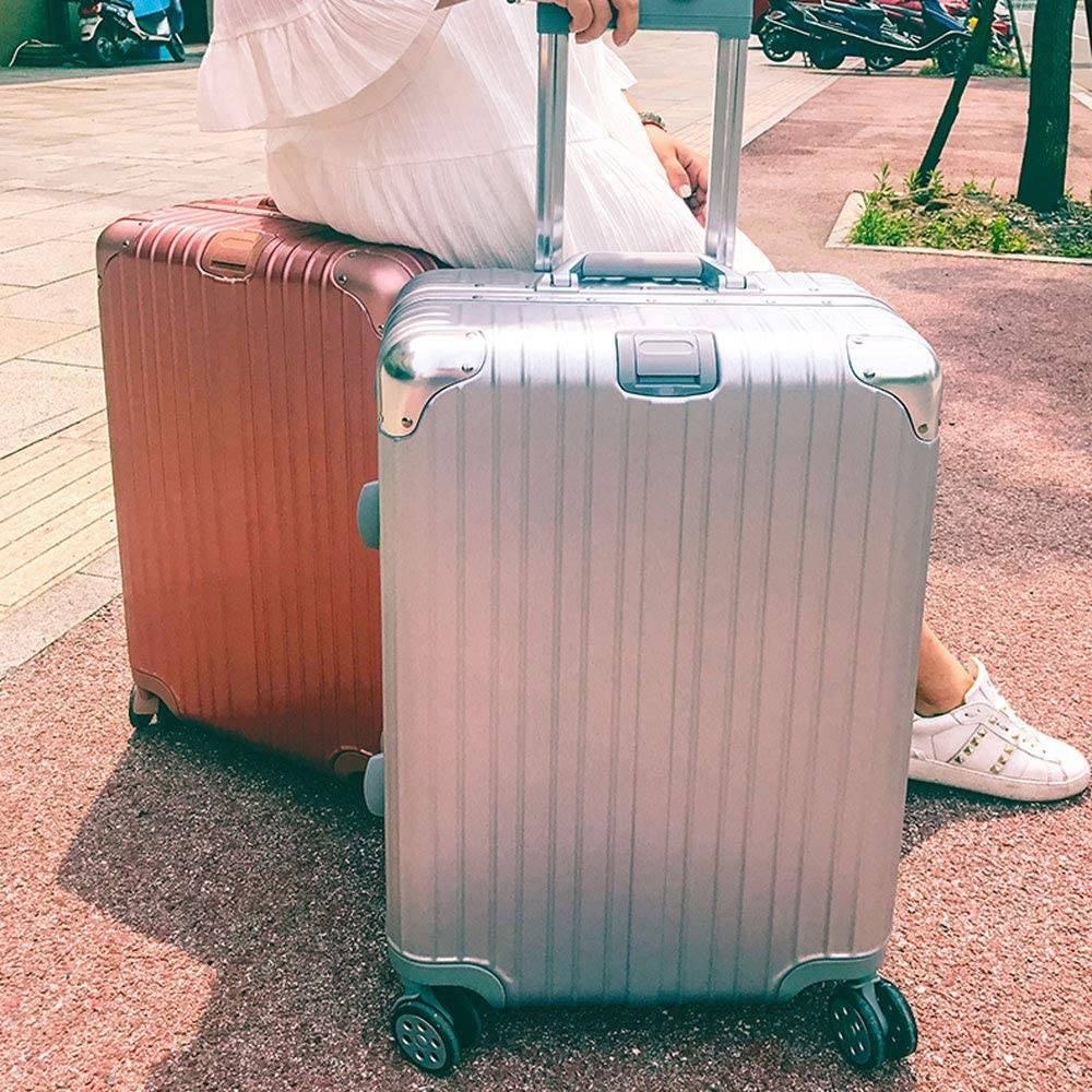 YD Luggage Set Trolley case Large Diameter Brake Caster 2 4 Colors TSA Customs Lock ABS+PC Stylish Scratch-Resistant Brushed Hidden Hook Large Capacity Suitcase