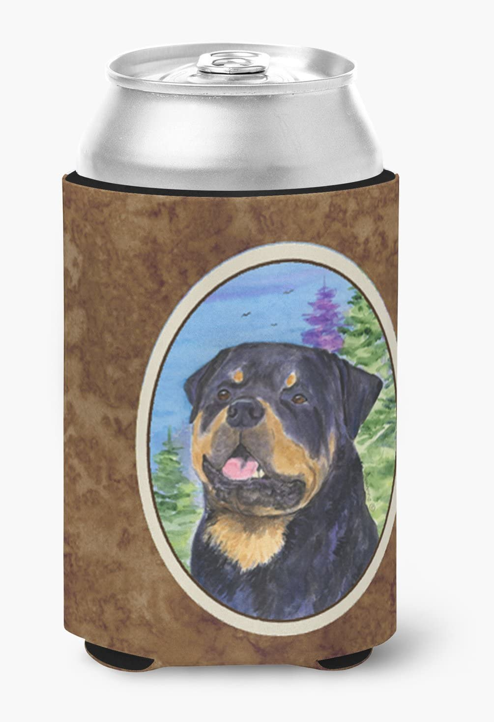 Caroline's Treasures SS1026CC Rottweiler Can or Bottle Beverage Insulator Hugger, Can Hugger, multicolor