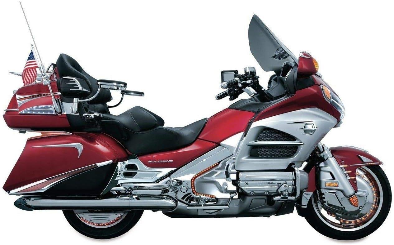 Kuryakyn Black Red LED Saddlebag Accent Swoops Cover Trim Honda Goldwing F6B GL