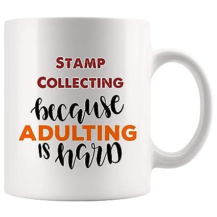 Best Stamp Collecting Mug Coffee Cup Tea Mugs Gift   Adulting Is Hard Fun Kid Children