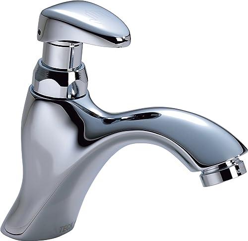 Delta Faucet 87T105 87T Single Hole Metering Slow-Close Bathroom Faucet, Chrome,6.36 x 1.91 x 6.36 inches