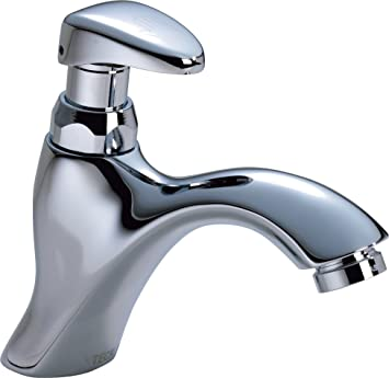 Delta Faucet 87T105 87T Single Hole Metering Slow-Close Bathroom ...