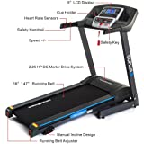 Gymax Cardio Folding Exercise Treadmill Fitness Electric Motorized Running Machine Treadmill w/ Incline Home Gym