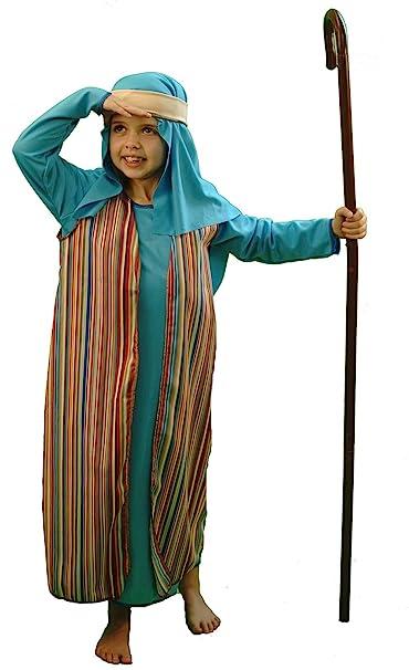CL COSTUMES Nativity Bible World Book Day Blue U0026 Striped Shepherd/Joseph  Fancy