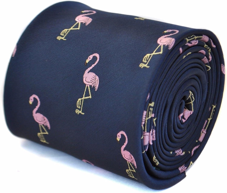 Frederick Thomas Azul Marino Corbata con FLAMENCO Bordado Diseño ...