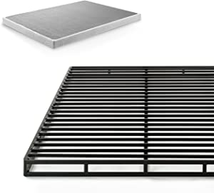 Zinus Victor 4 Inch Low Profile Quick Lock Smart Box Spring / Mattress Foundation / Strong Steel Structure / Easy Assembly, King