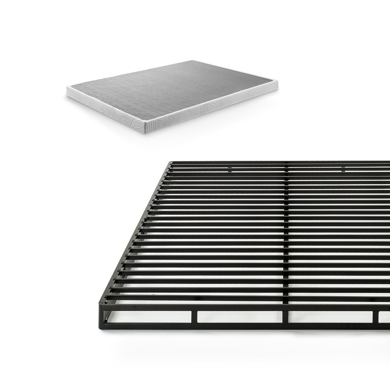 Zinus 4 Inch Low Profile Quick Lock Smart Box Spring / Mattress Foundation / Strong Steel Structure / Easy Assembly, Queen