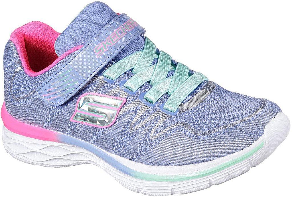 Skechers Kids Girls Dream N' Dash Whimsy Girl Velcro Strap Sneaker B01J5BBWHO 13.5 Little Kid M|Perwinkle/Mint
