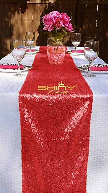 Charmant Image Unavailable. Image Not Available For. Color: 12x72 Inch Red Sequin  Table Runner ...