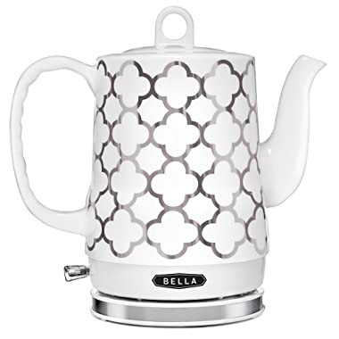 BELLA 14522 Electric Tea Kettle, 1.2 LITER, Silver Tile