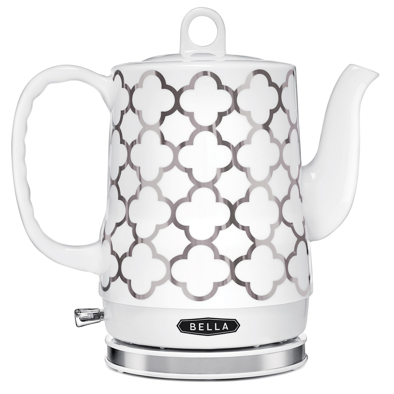 BELLA 1.2L Electric Ceramic Tea Kettle with Detachable Base & Boil Dry Protection (14522) Electric Tea Kettle with Automatic Shut Off & Detachable Swivel Base