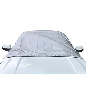BÂCHE DE PROTECTION AUTO pour PARE-BRISE - utile toute l'année pour protéger votre voiture contre le gel, la glace, le givre, la neige et les UV - Couverture magnétique 145 x 188 cm - Garantie inclue