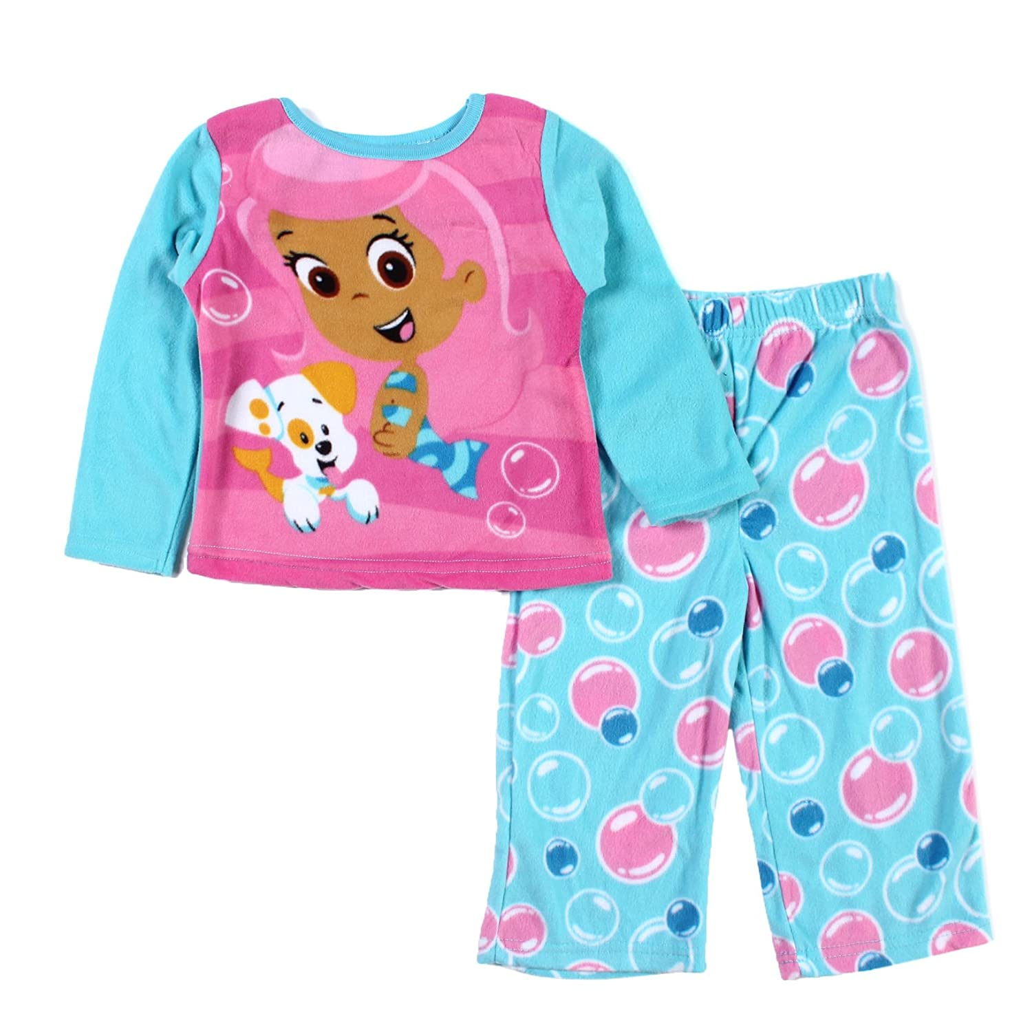 Amazon.com: Nickelodeon Little Girls Bubble Guppies Microfleece Pajama Sest (4T): Infant And Toddler Pajama Sets: Clothing