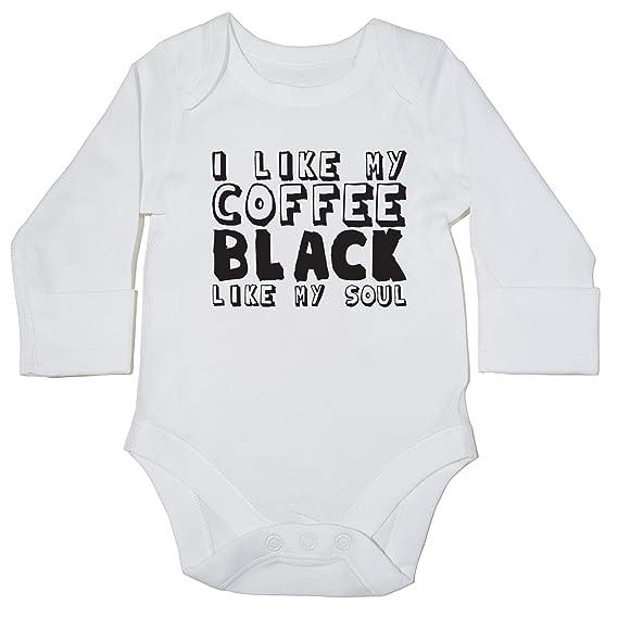 HippoWarehouse al igual que Mi Café Negro como mi alma Baby Body chaleco (manga larga) niños niñas: Amazon.es: Ropa y accesorios