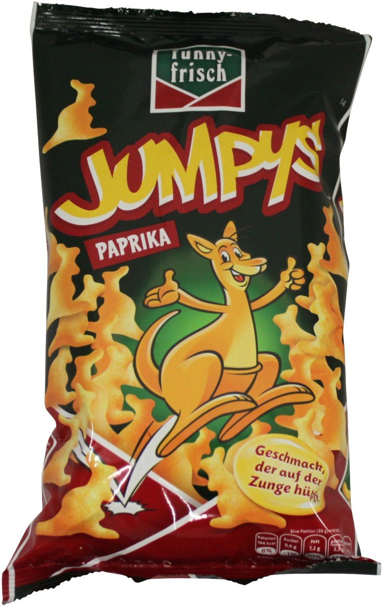 funny-frisch Jumpys Crackers with Red Pepper - 75gr