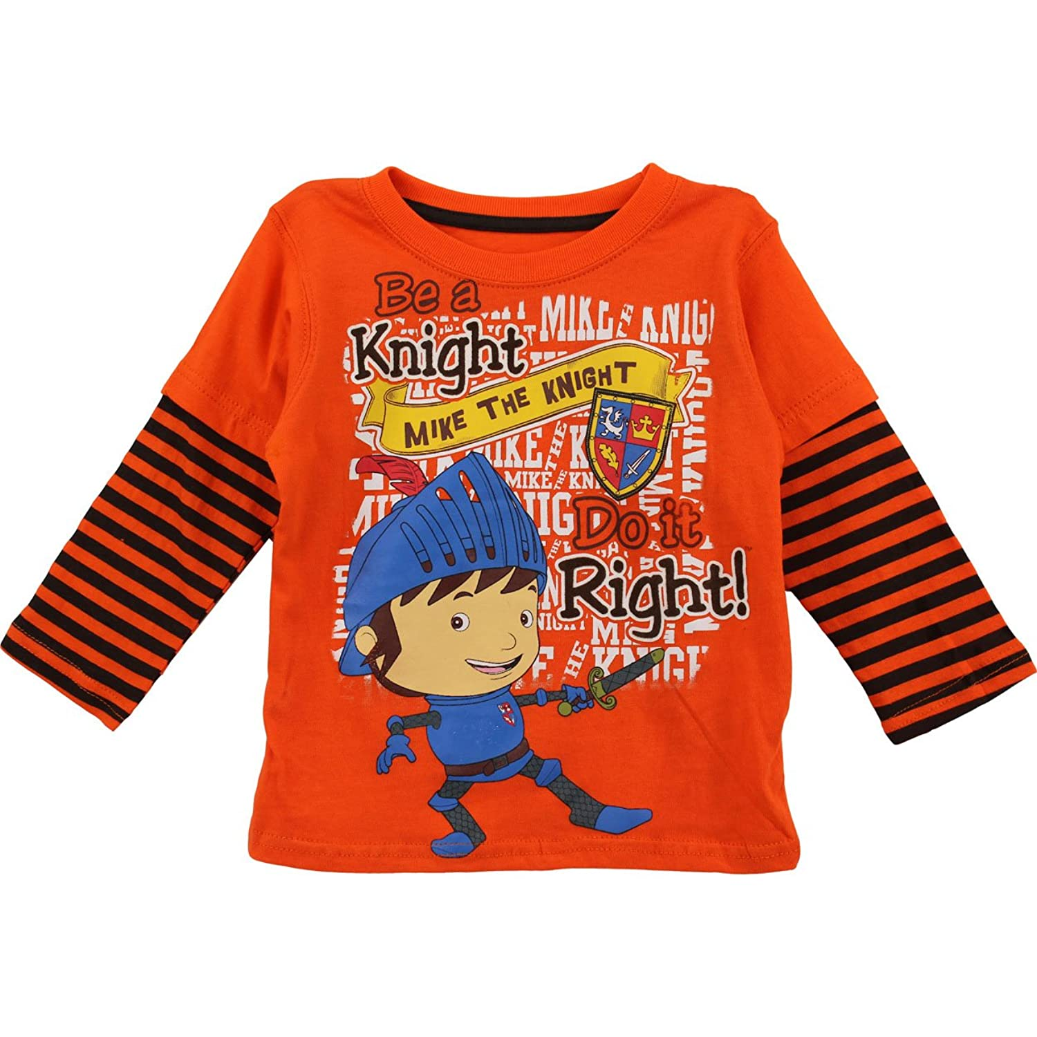 Amazon Mike the Knight Toddler Orange T Shirt 8F6309 2T Clothing