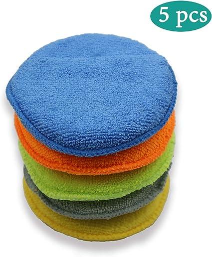 Pulido con Cera Esponja De Espuma Aplicador Almohadillas para Limpiar Coches Veh/ículo Vidrio
